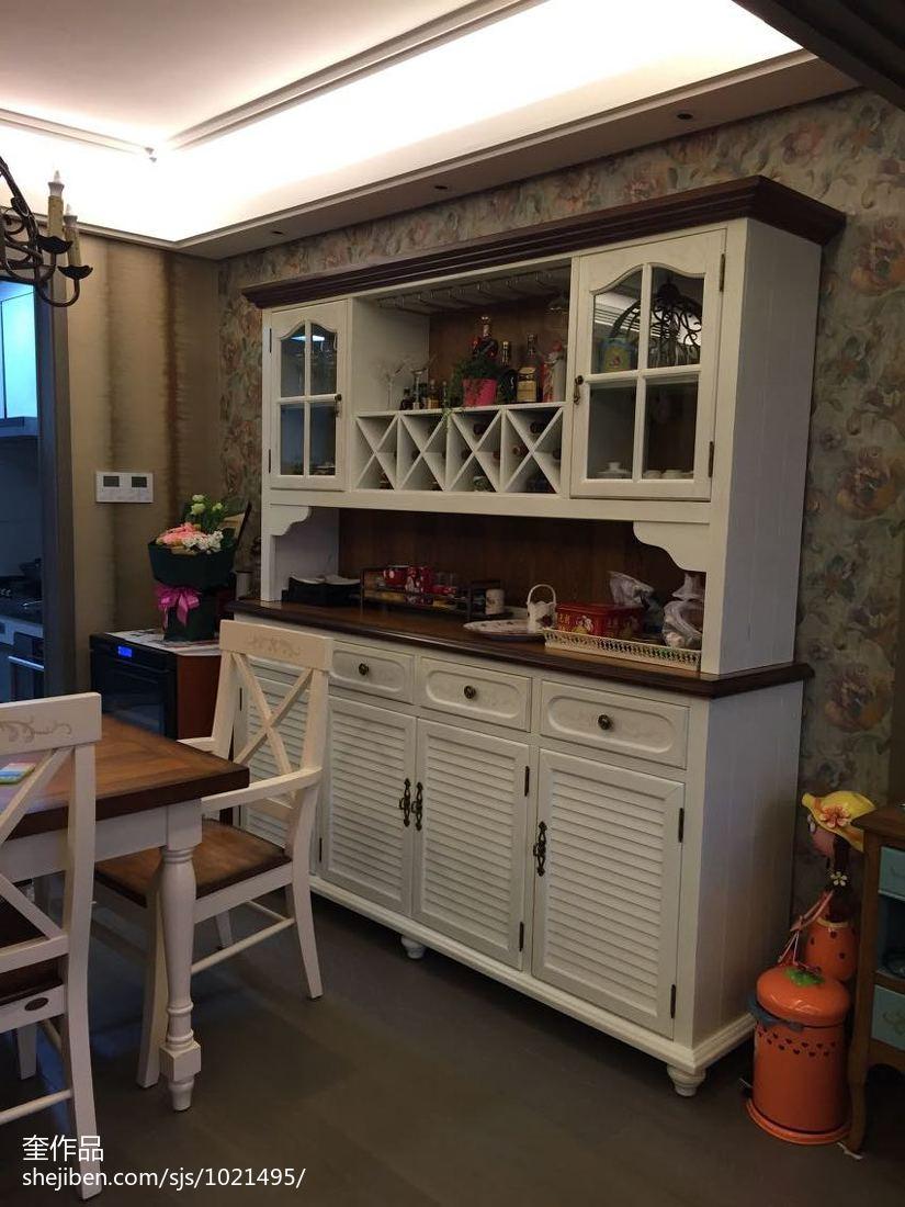 家庭酒柜设计图_白色家用酒柜效果图 – 设计本装修效果图