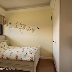 混搭风格卧室手绘墙装修效果图