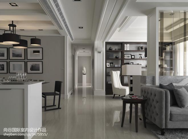 欧式风格客厅过道样板房设计