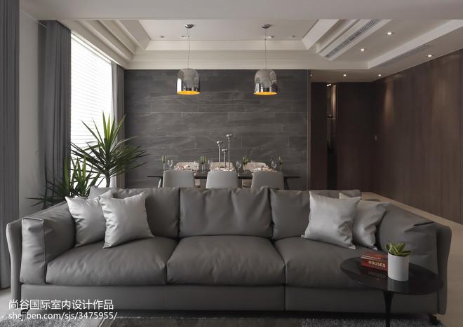 群都三简欧风格样板房设计实景图案例_