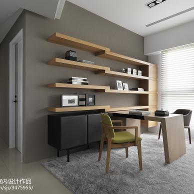 现代样板房装修书房图片