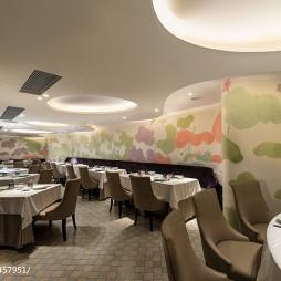 高级餐厅背景墙设计