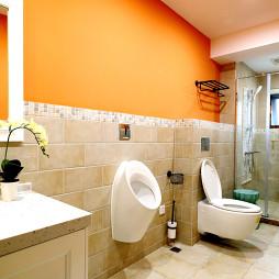 现代卫生间壁挂式马桶装修图片
