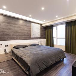 简约现代卧室背景墙效果图