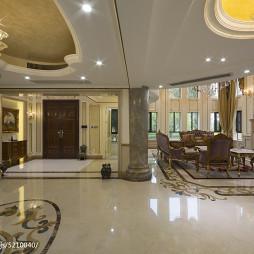 别墅欧式风格客厅过道装修