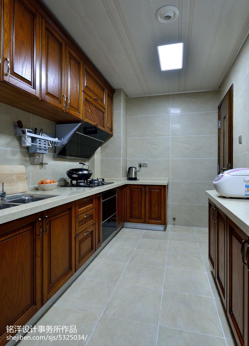 客厅阳台玄关效果图_现代中式厨房吊顶效果图 – 设计本装修效果图