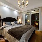 简约美式卧室窗帘设计