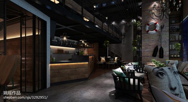 工业复古咖啡馆_2091720