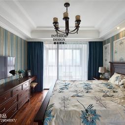 简约美式卧室壁纸装修效果图欣赏