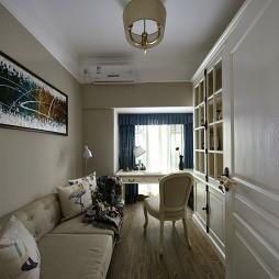 现代简约风格书房样板房设计图片