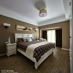 现代简约风格卧室窗帘样板房设计