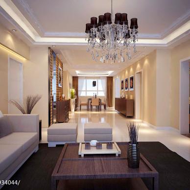 中式简约,156,电视墙旁边有门的经典设计_2100784