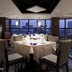 现代风格中餐厅窗台设计