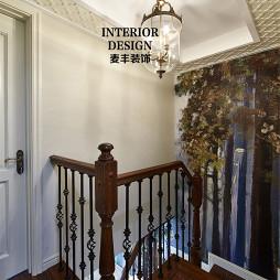 混搭美式楼梯设计