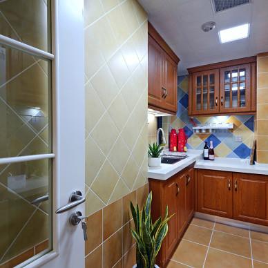 二居室美式厨房吊顶设计图片
