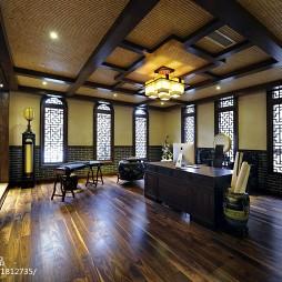 中式别墅书房吊顶设计