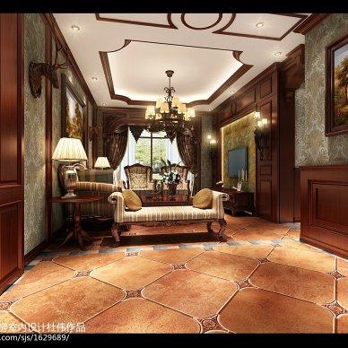 南充蜂房设计北岭颐园103平方李先生美式风格_2118611