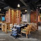 火锅餐饮店隔断设计图片