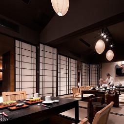 日本料理店包间设计
