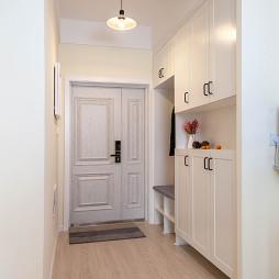 三居室混搭风格玄关鞋柜设计效果图