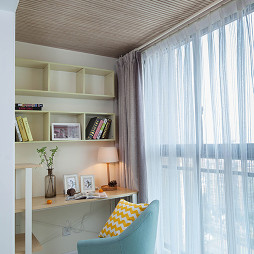 三居室混搭风格阳台装修书房效果图