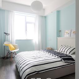 台式风格卧室窗帘效果图