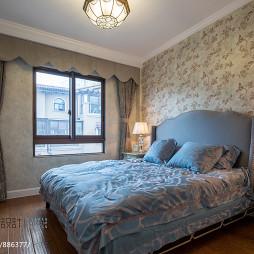 别墅新古典卧室壁纸装修效果图