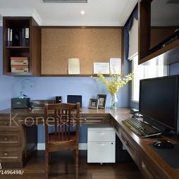 四居室美式书房装修设计