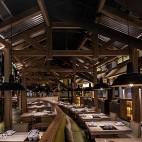 公装典雅餐饮空间餐厅布局设计