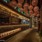 公装典雅中餐厅过道设计