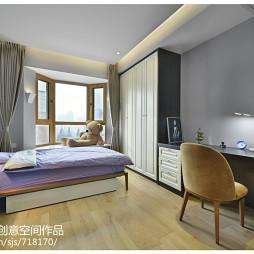 简约现代卧室组合柜装修效果图