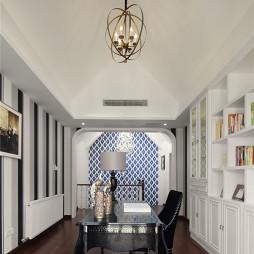 新古典书房装修设计效果图