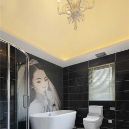 新古典卫浴壁画装修效果图
