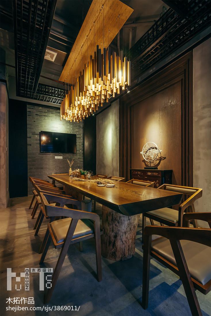 生活资讯_时尚复古咖啡厅吊顶设计 – 设计本装修效果图