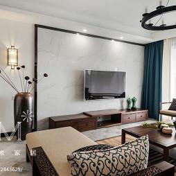 新中式客厅电视背景墙设计