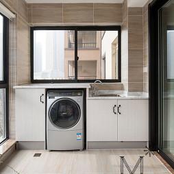 新中式阳台洗衣机摆放效果图