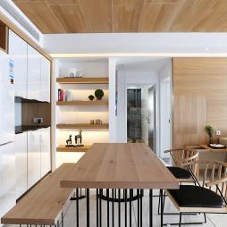 现代简约餐厅置物架装修设计