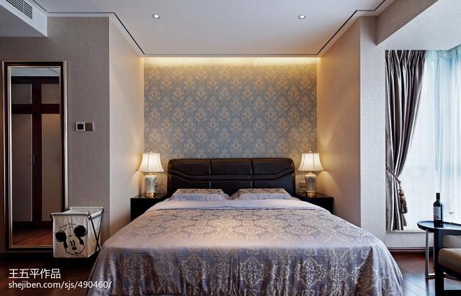 現代中式住宅臥室裝修效果圖