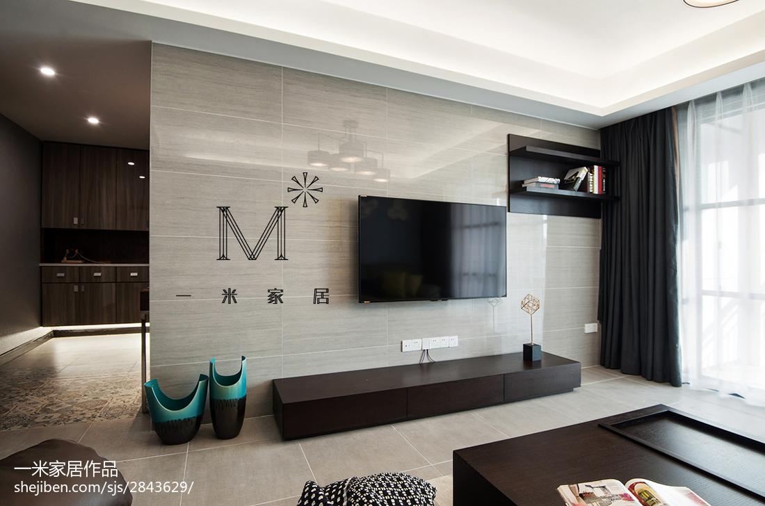 家装客厅电视背景墙_现代客厅电视背景墙图片 – 设计本装修效果图