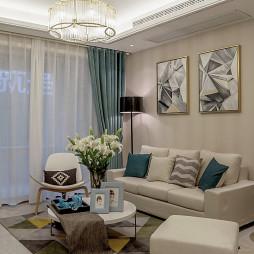 现代客厅吊顶样板房图片