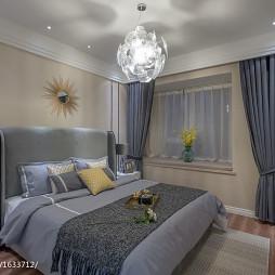 现代卧室窗帘样板房图片