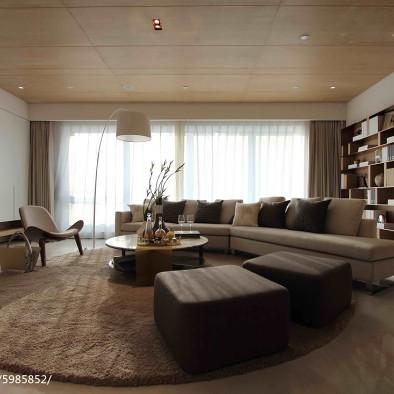 现代公寓客厅样板房设计图片