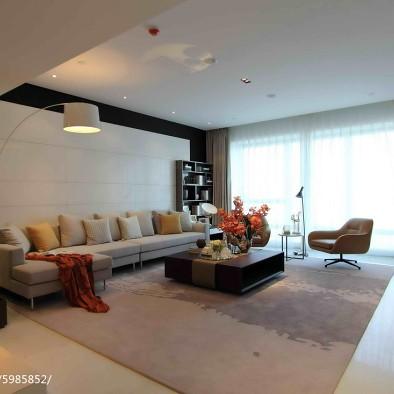 现代公寓客厅吊顶样板房图片