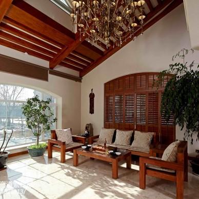 私人别墅东南亚客厅装修效果图