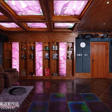 私人别墅东南亚视听室装修图片