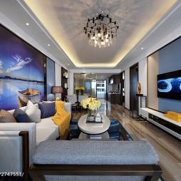 现代客厅公寓样板房图片