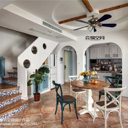 地中海复式户型餐厅装修图片