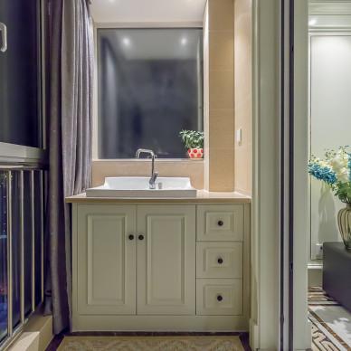欧式风格阳台洗手台装修图片
