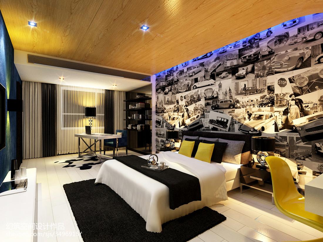 现代大厅效果图_主题酒店客房图片欣赏 – 设计本装修效果图