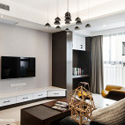 现代简约三居客厅装修设计